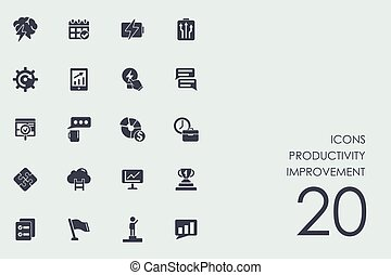 Set of productivity improvement icons - productivity...
