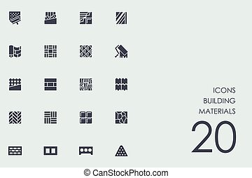 Set of building materials icons - building materials vector...