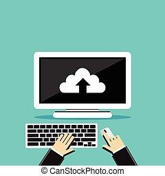 Uploading file. Upload document process.