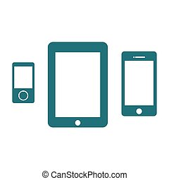 Digital devices icon set.