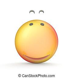 emoji isolated on white background. 3d illustration