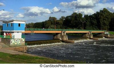 Dam in Wroclaw, Poland