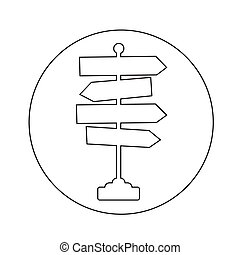 Direction road sign icon illustration design