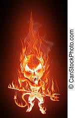 diavolo, fiamme