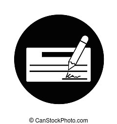 cheque icon illustration design