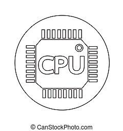 CPU icon illustration design
