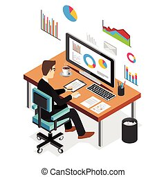 batch 80.cdr - Businessman working and analyzing financial...