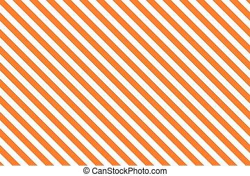 Orange stripes on white background. Striped diagonal pattern...