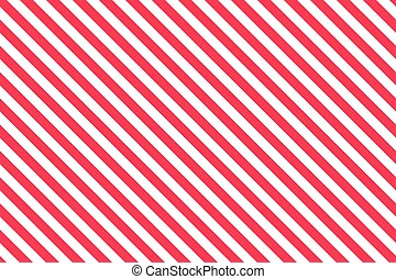 Red stripes on white background. Striped diagonal pattern...