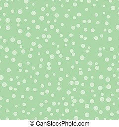 Chaotic dots on a green background Dots Seamless Pattern...