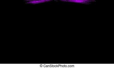 Spectacular Fireworks show, violet linear fireworks, multiple lines. Full HD Ver. 4