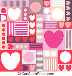 Abstract background with hearts. Vintage pattern. Vector...