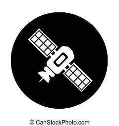 satellite icon illustration design