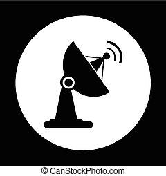satellite dish icon illustration design