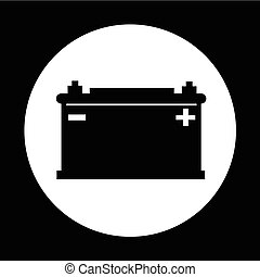 Car battery icon illustration design
