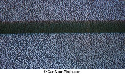 Television signal tv noise screen with static flicker caused...