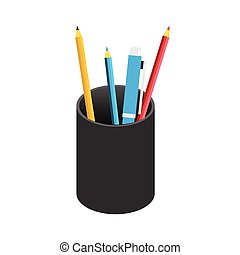 Pencil case icon.