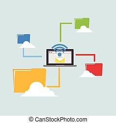 Wireless connection. File Sharing.