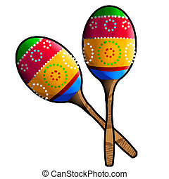 maracas - two colorful maracas