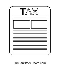 tax paper document icon illustration design