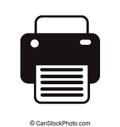 Fax print icon illustration design
