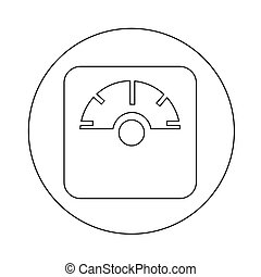 weighting apparatus icon illustration design