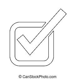 Checkmark icon illustration design