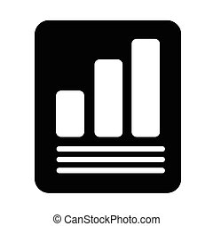 Document with chart icon illustration design