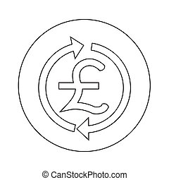 Money GBP currency symbol pound icon illustration design