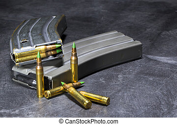AR-15 Ammunition - Ammunition for an American AR-15 assault...