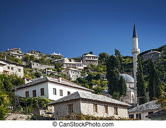 pocitelj village traditional old architecture buildings in...