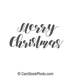 Merry Christmas. Lettering raster illustration. - Merry...