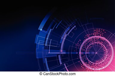 abstract technology backdrop, futuristic digital background,...