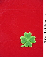 Shamrock - Green clover leaf with green hearts