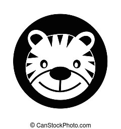 Tiger Icon illustration design