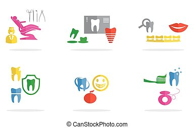 stomatology flat design - illustration on the theme of...