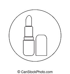 pomade lipstick icon illustration design