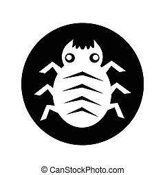 Cyber Bug Icon illustration design