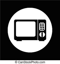Microwave oven icon illustration design