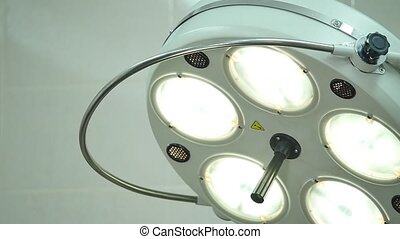 surgical lamp in operating-room light.