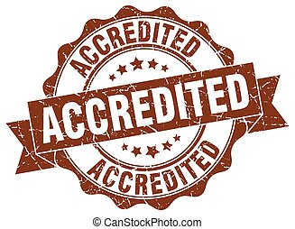 accredited stamp. sign. seal