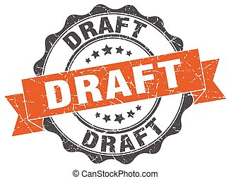 draft stamp. sign. seal