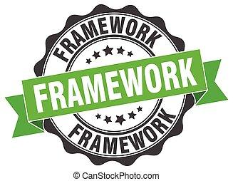 framework stamp. sign. seal