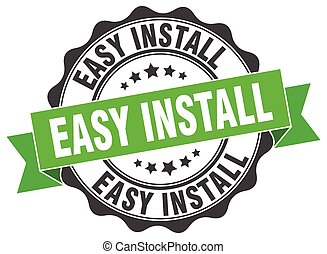 easy install stamp. sign. seal