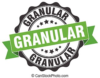 granular stamp. sign. seal