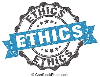 ethics stamp. sign. seal
