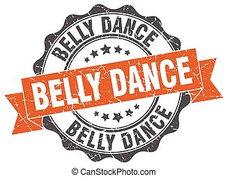 belly dance stamp. sign. seal