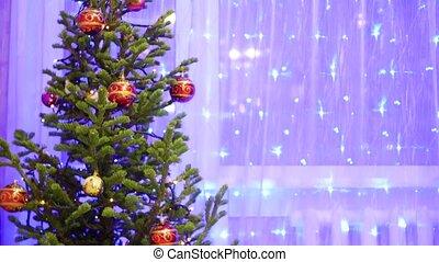 bokeh Christmas light Christmas tree