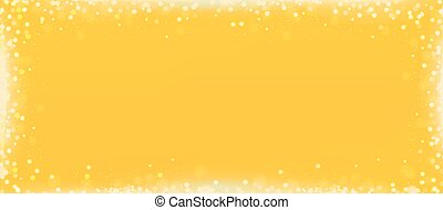 Lemon yellow blog banner background with bokeh border -...
