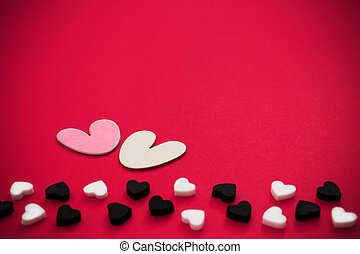 Valentines day background with pink